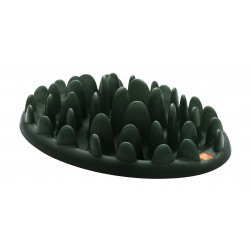 Green - stor fodertallerken til barf eller tørkost - mørk grøn