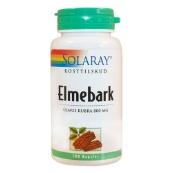 Elmebark - slippery elm - 400 mg. - Solaray - 100 kapsler