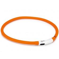 Lyshalsbånd, orange, genopladelig  - bestillingsvarer ca. 1 uge